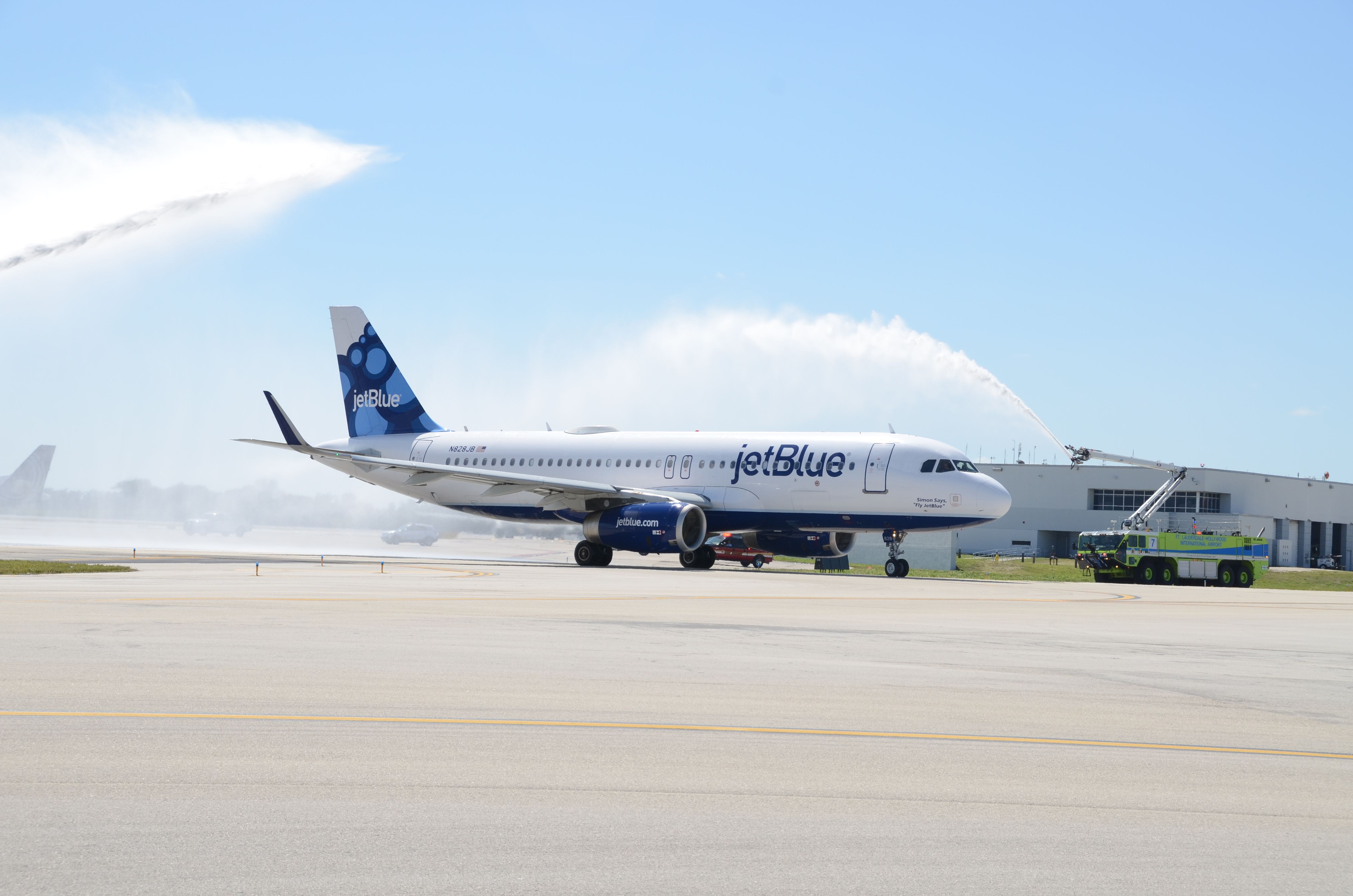 JetBlue Water Salute
